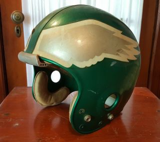 Philadelphia Eagles Nfl Game Worn 1976 Gladiator Hydra - Flo Football Helmet