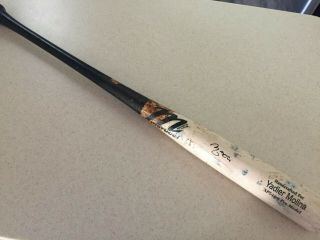 Yadier Molina Signed Game Bat Mlb Authenticated
