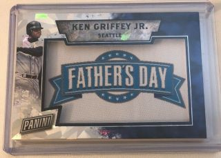 2016 Panini Fathers Day Ken Griffey Jr Fathers Day Patch Cracked Ice 19/25 Rare