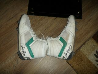 Dan Marino Game & Signed Pony Football Cleats Sz 12 & Unsigned Jersey