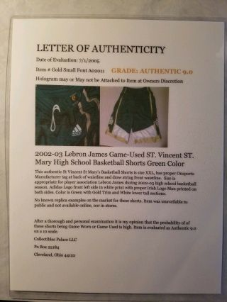 Lebron James Game Worn High School Jersey And Shorts With 7