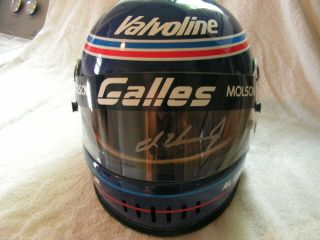 Al Unser Jr Worn Helmet Signed Indy 500 Cart Champ Car Indycar Iroc Nascar