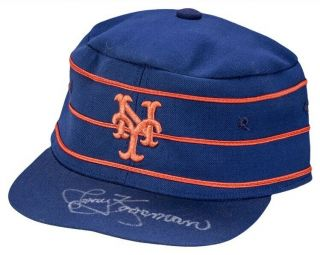 Mets Jerry Koosman Game Worn 1976 Pillbox Cap Hat Signed