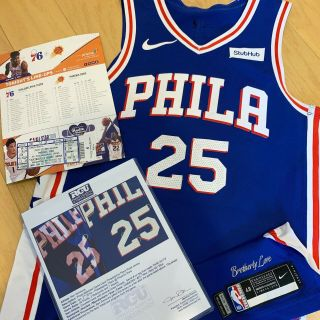 Ben Simmons Philadelphia 76ers Game Worn Jersey Photomatched