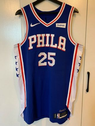 Ben Simmons Philadelphia 76ers Game Worn Jersey Photomatched 2