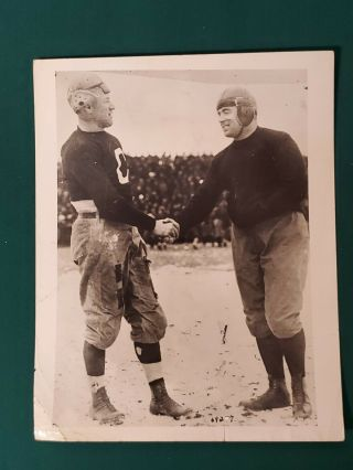 Jim Thorpe - Canton Bulldogs - Type 1 Press Photo - With Brickley Of Massillon