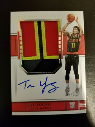 2018 - 19 National Treasures Trae Young Rpa Rc 4 - Color Patch Auto 95/99