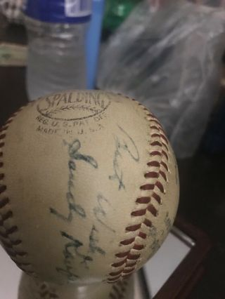 Sandy Koufax perfect game/ no hitter game ball 9/9/65. 12