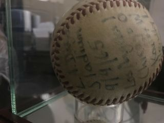 Sandy Koufax perfect game/ no hitter game ball 9/9/65. 7