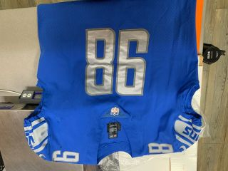 "Damon "" Snacks "" Harrison Lions Autographed Game Worn Jersey W/snacks Inscriptions"