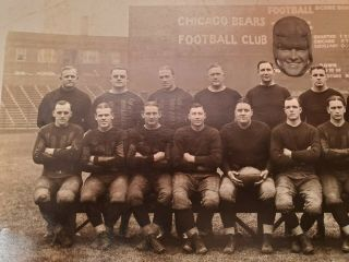 1924 Worlds Champion Chicago Bears - Photograph - W/ Flaherty Cutout 6