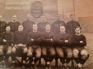 1924 Worlds Champion Chicago Bears - Photograph - W/ Flaherty Cutout 7