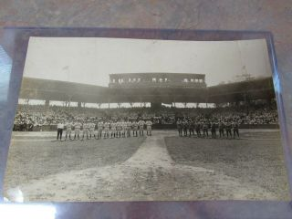 Large Panoramic 1919 Boston Red Sox & Baltimore Photo Babe Ruth