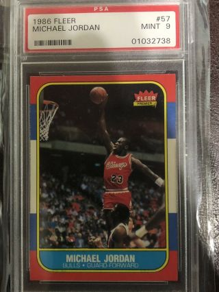 Michael Jordan 1986 - 87 Fleer 57 Rookie Psa 9 Looks Like Bgs 9.  5