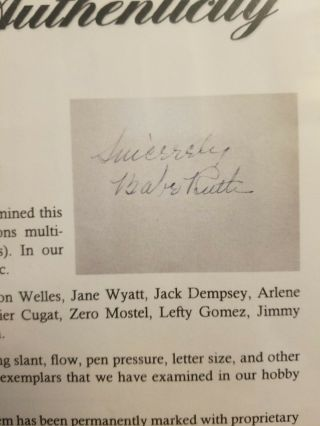 MASSIVE BABE RUTH PSA Signed Autograph Book Page 49 total Autos Movie Stars,  etc 11