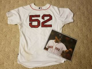 2015 Boston Red Sox Game Worn Eduardo Rodriguez Rookie Jersey Unwashed