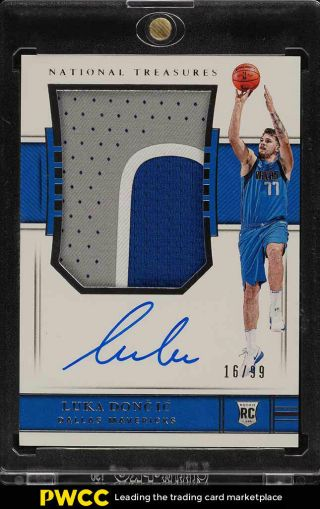 2018 National Treasures Luka Doncic Rookie Rc Auto 3 - Clr Patch /99 127 (pwcc)