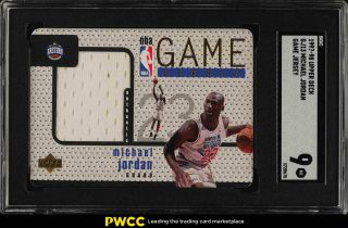 1997 Upper Deck Game Jersey Michael Jordan Patch Gj13 Sgc 9 (pwcc)