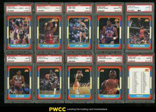 1986 Fleer Basketball Complete Psa 10 Set Johnny Moore Michael Jordan Rc (pwcc)