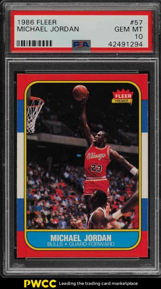1986 Fleer Basketball Michael Jordan Rookie Rc 57 Psa 10 Gem (pwcc)