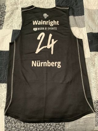 Ishmail Wainright Nürnberg Falcons Bc Game Worn Jersey Authentic