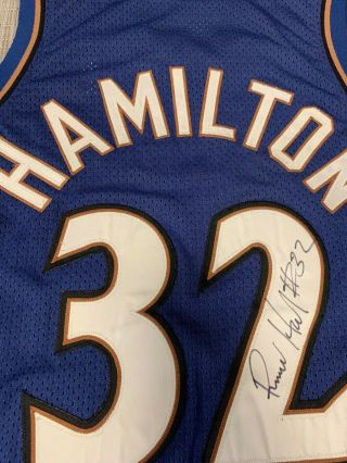 "Richard ""Rip"" Hamilton Game Worn Wash Wizards Photo - matched Nike Pro Cut Jersey 9"