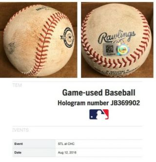 2016 Chicago Cubs Game Baseballs with case.  Kris Bryant,  Rizzo,  Baez,  Lester 11