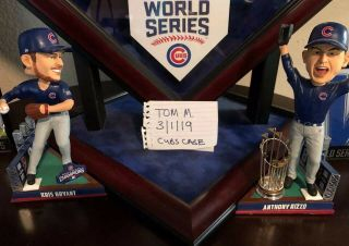 2016 Chicago Cubs Game Baseballs with case.  Kris Bryant,  Rizzo,  Baez,  Lester 12
