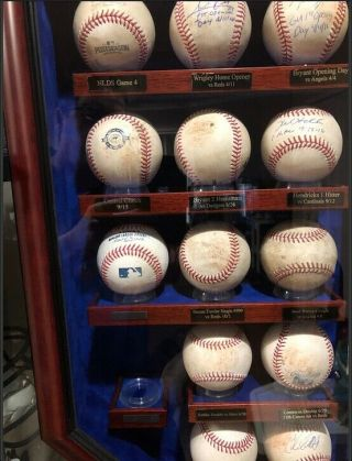 2016 Chicago Cubs Game Baseballs with case.  Kris Bryant,  Rizzo,  Baez,  Lester 2