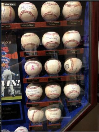 2016 Chicago Cubs Game Baseballs with case.  Kris Bryant,  Rizzo,  Baez,  Lester 3