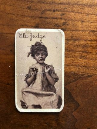 "N167 Old Judge "" Topsey "" Card Very Rare Folks"