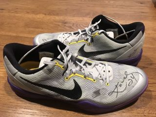 Kobe Bryant Game Worn Dual Signed Shoes Dc Sports