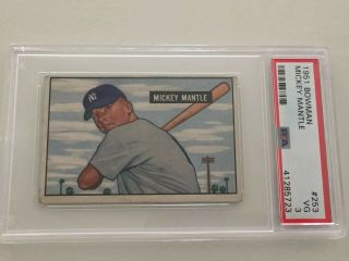 1951 Bowman Mickey Mantle Psa 3