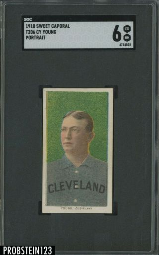 """T206 Cy Young Hof Portrait Sweet Caporal 350 Subjects Sgc 6 """" High End """""""