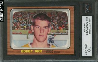 1966 Topps Hockey 35 Bobby Orr Rc Rookie Hof Razor Sharp Ksa 10 High End
