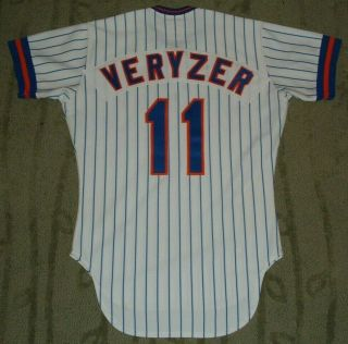 York Mets Tom Veryzer Game Worn Jersey Mears Loa (tigers Indians Cubs)