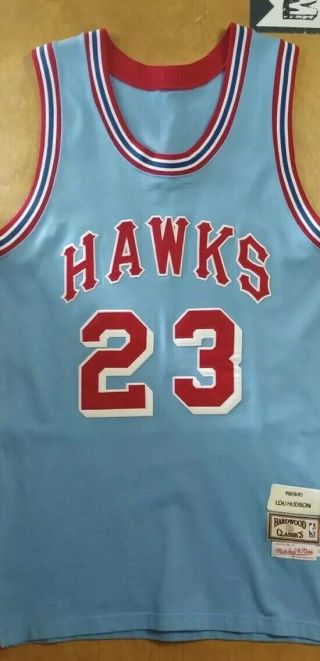 Lou Hudson Mitchell And Ness 1969 - 70 Jersey Size 44 Extremely Rare In This Size