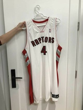 Nba Bosh Raptors Jersey - Authentic,  Game Worn,  And Signed,  Season
