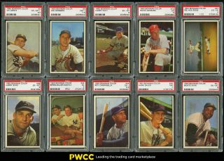 1953 Bowman Color Mid - Grade Nr Complete Set Berra Mantle Ford Musial,  Psa (pwcc)