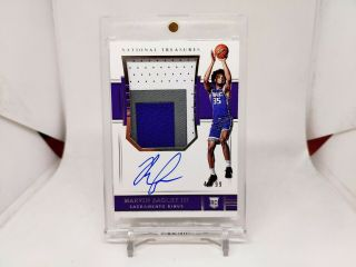 2018 - 19 National Treasures Rookie Patch Auto Rpa Marvin Bagley Iii /99 Nasty