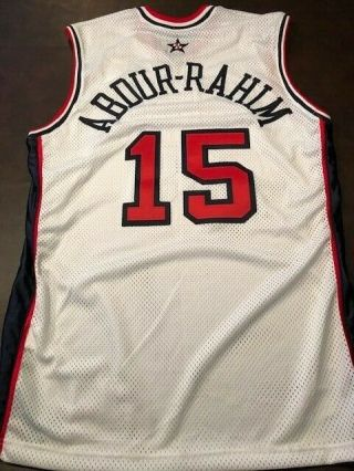 Shareef Abdur - Rahim Game Issued Olympic Jersey