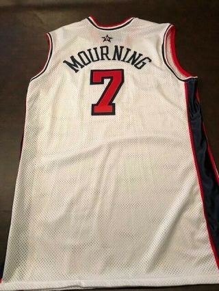 Alonzo Mourning Game - Issued 2000 Olympic Jersey