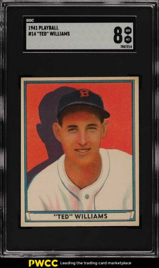 1941 Play Ball Ted Williams 14 Sgc 8 Nm - Mt (pwcc)
