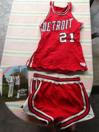 Ncaa U Detroit Titans 1975 - 76 Boyd Game Worn Basketball Jersey Dick Vitale