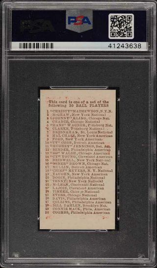 1910 E98 Set Of 30 Red Cy Young PSA 9 (PWCC) 2