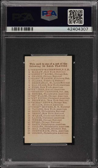 1910 E98 Set Of 30 Red Ty Cobb PSA 8 NM - MT (PWCC) 2