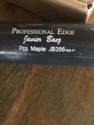 Javier Baez Mlb Game Bat Chicago Cubs Uncracked & Solid