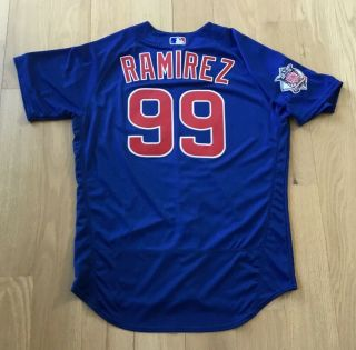 Manny Ramirez 2016 Game Issued Chicago Cubs Jersey Worn Rare Coach W.  S.  99