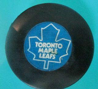 1973 Henri Richard Nhl Game Goal Scored Puck Toronto Maple Leafs