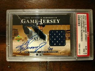 2000 Upper Deck Ken Griffey Jr Ud Game Jersey Autograph Auto Crash Numbered 1/24